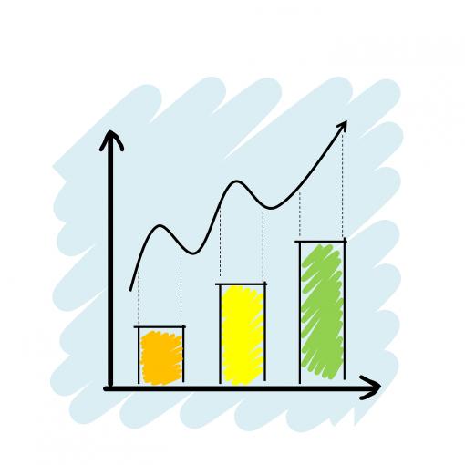 Estatística gráfico números balanço planilha